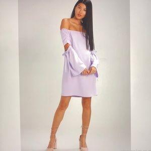 Cub Monaco of shoulder lilac dress Sz 12